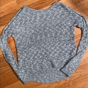 Express Zip Shoulder Knit Sweater